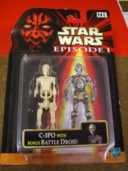C-3PO with bonus Battle Droid