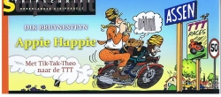 Nederlandse stripparels # Appie Happie, met Tik-Tak-Theo naar de